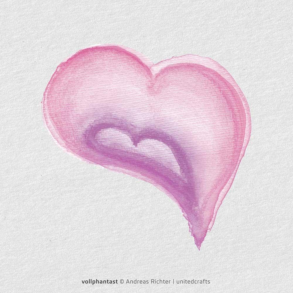 Verbunden von Herz zu Herz